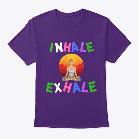 Meditation Yoga Shirts And More Purple T-Shirt Front