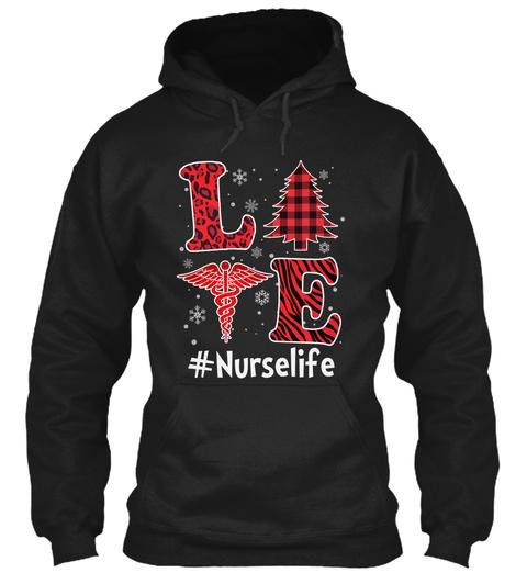 Nurse Life Black T-Shirt Front