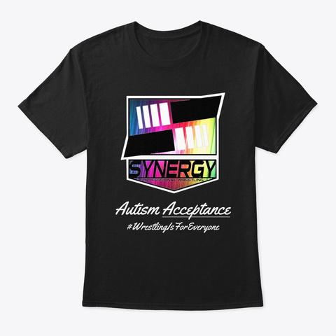 Autism Acceptance | Synergy Wrestling Black T-Shirt Front