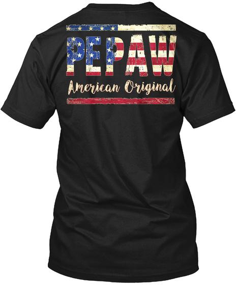 Pepaw American Original Black T-Shirt Back