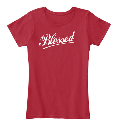 Blessed Red T-Shirt Front