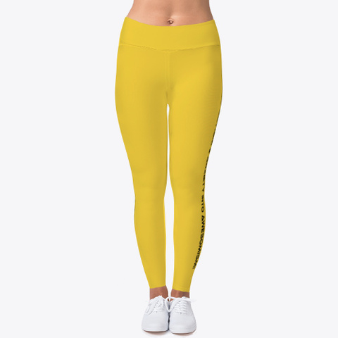 L&L Leggings, Hoodie And I Phone Case Yellow T-Shirt Front