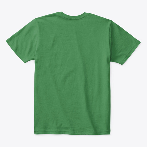 Coll Tshirt For Kids Kelly Green  T-Shirt Back