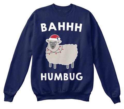 Bahhh Humbug  Navy  T-Shirt Front