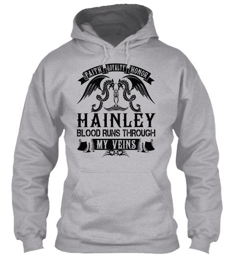 Hainley   My Veins Name Shirts Sport Grey T-Shirt Front
