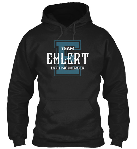 Team Ehlert   Name Shirts Black T-Shirt Front