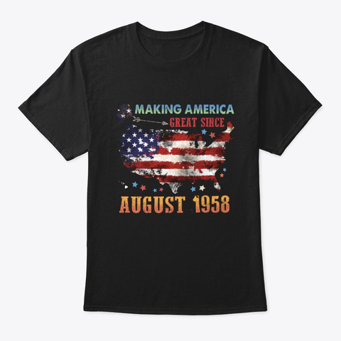Making America Great August 1985 Black T-Shirt Front
