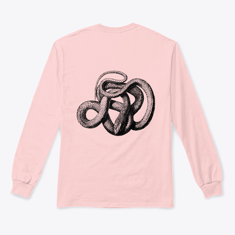 Tongues Long Sleeve  Light Pink Long Sleeve T-Shirt Back