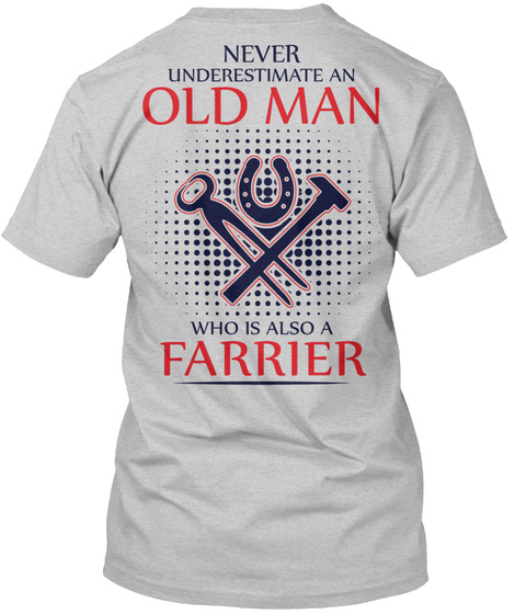 Awesome Farrier Light Steel T-Shirt Back