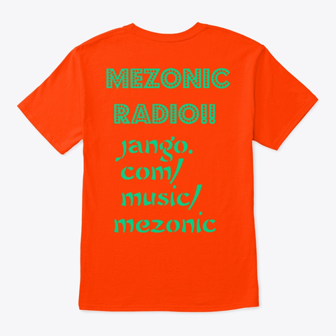 Mezonic Radio 1 Orange T-Shirt Back