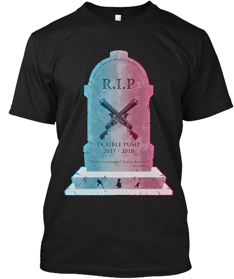 Fornite Rip Double Pump T Shirt Black T-Shirt Front