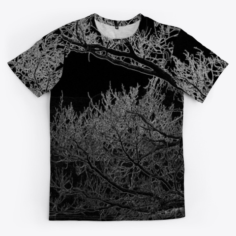 Creepy Branches | Necromancer  Black T-Shirt Front