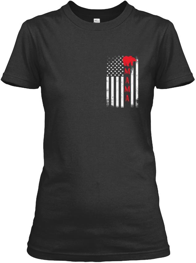Mama-Bear-Flag-Gildan-Women-039-s-Tee-T-Shirt thumbnail 6