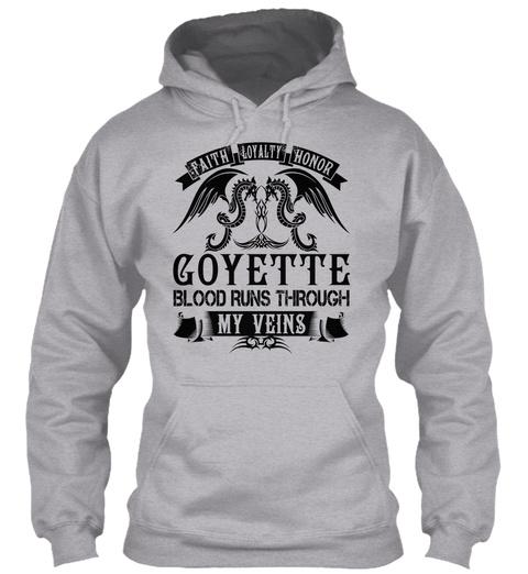 Goyette   My Veins Name Shirts Sport Grey T-Shirt Front