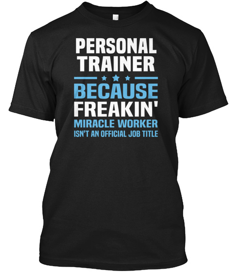 St Patricks   Personal Trainer Womens T  Black T-Shirt Front