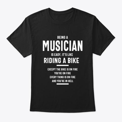 Musician Job Title Gift Black T-Shirt Front