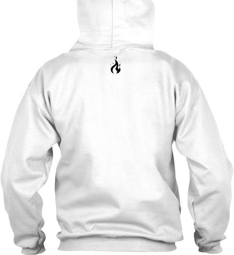 Extreme Simplistic B/W White Sweatshirt Back