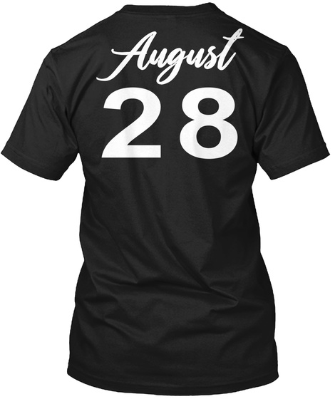 August 28   Virgo Black T-Shirt Back
