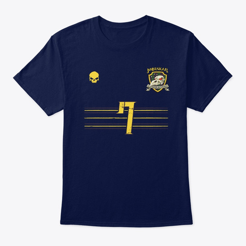 Morskar Grim Ravens Slaughterball Navy T-Shirt Front