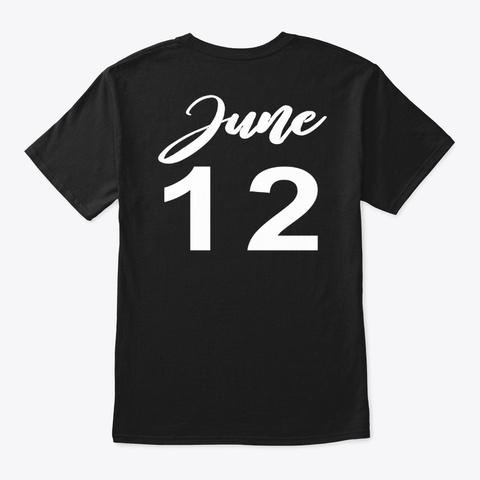 June 12   Gemini Black T-Shirt Back